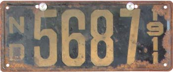1911 License Plate