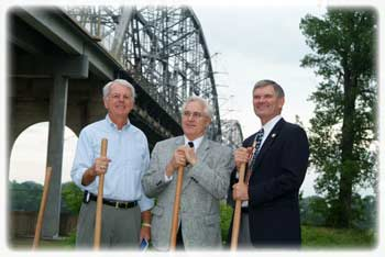 Ground Breaking of the New Memorial Bridge