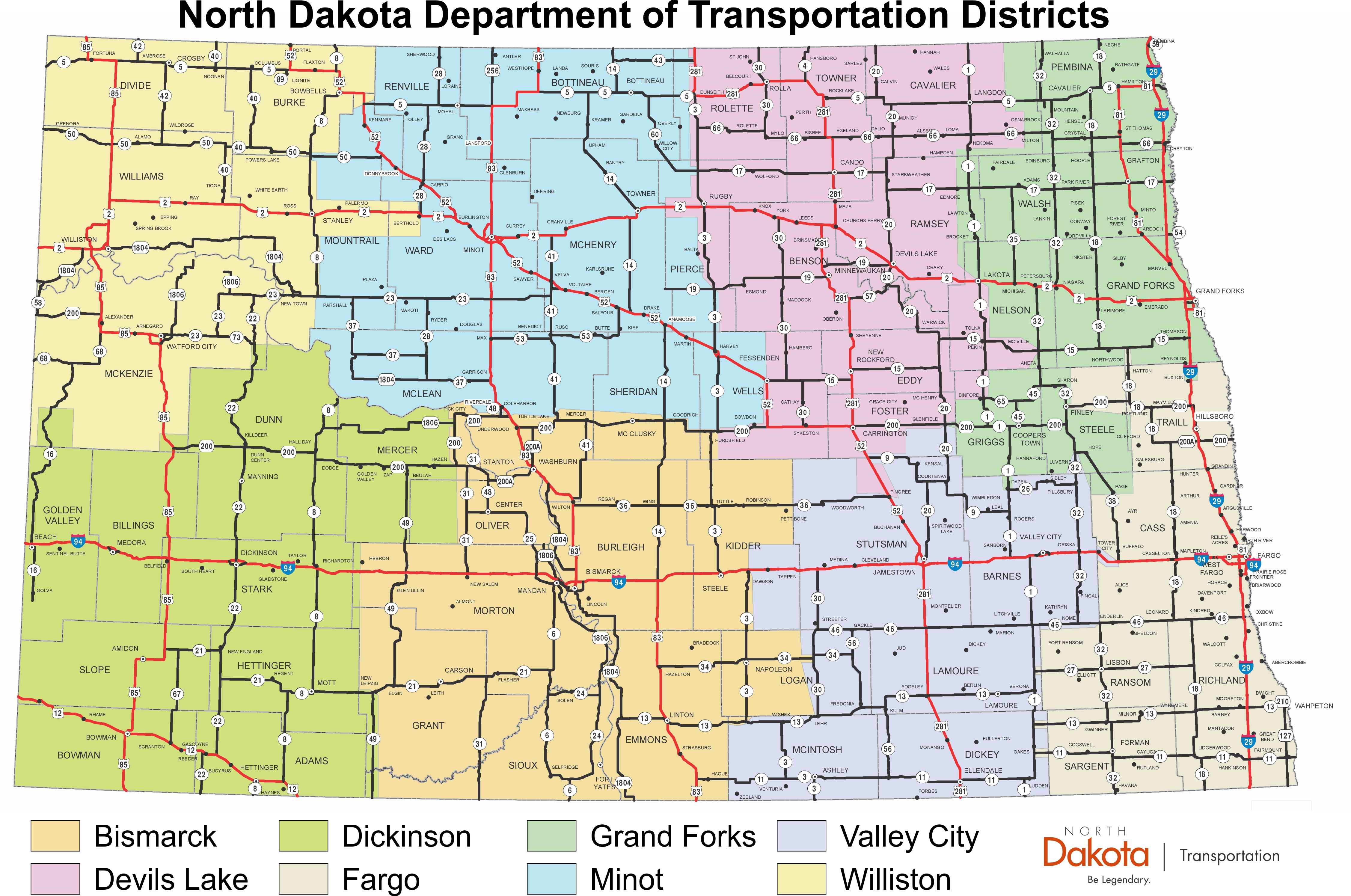 NDDOT - NDDOT Districts
