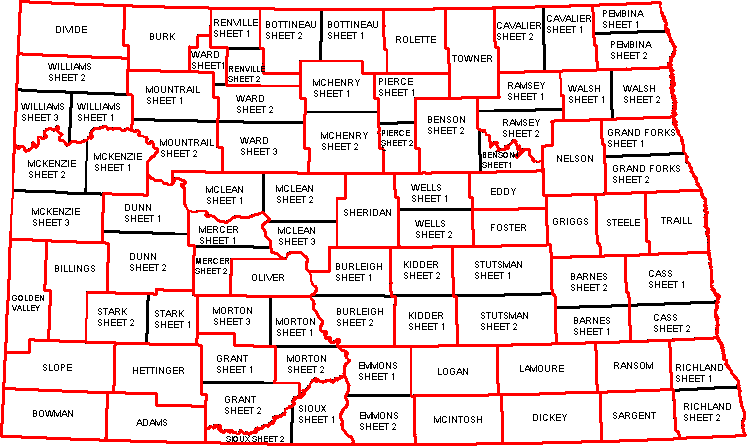 NDDOT County Urban and Traffic Information Maps
