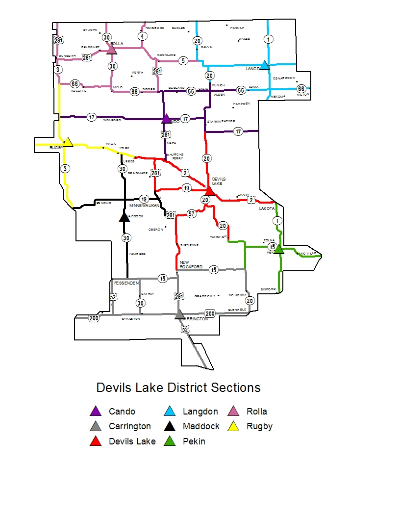 devils lake sections