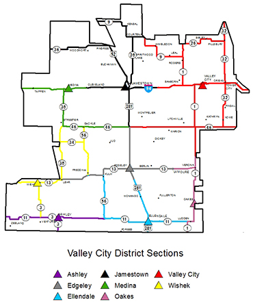 Valley City sections