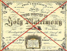 Church/Chapel Marriage Certificate