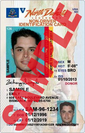 North Dakota ID card under 21 or under 18