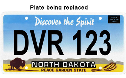 Plate to be replaced