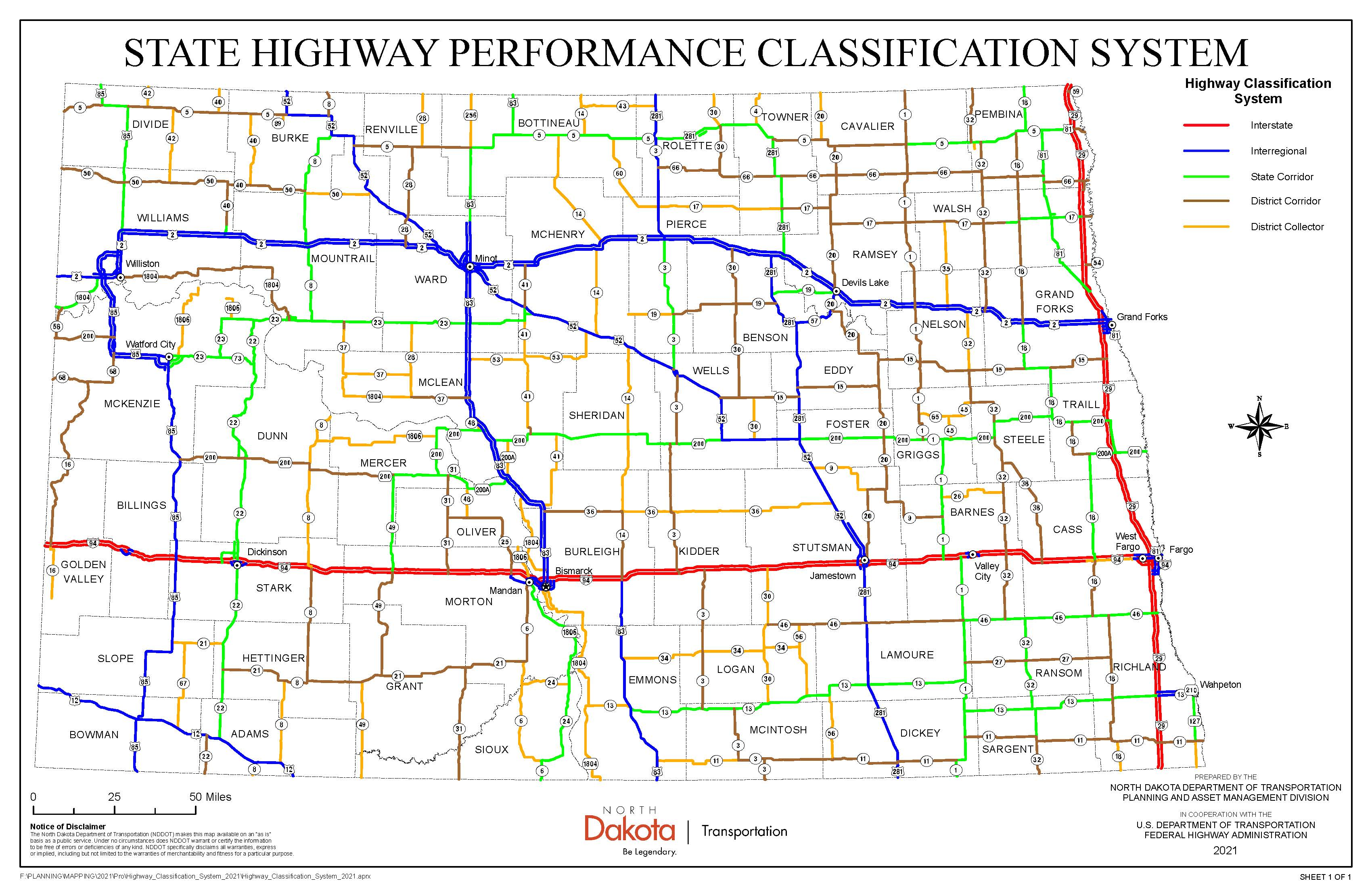 Highway Classification Map