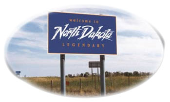 """Welcome to North Dakota"" Sign"