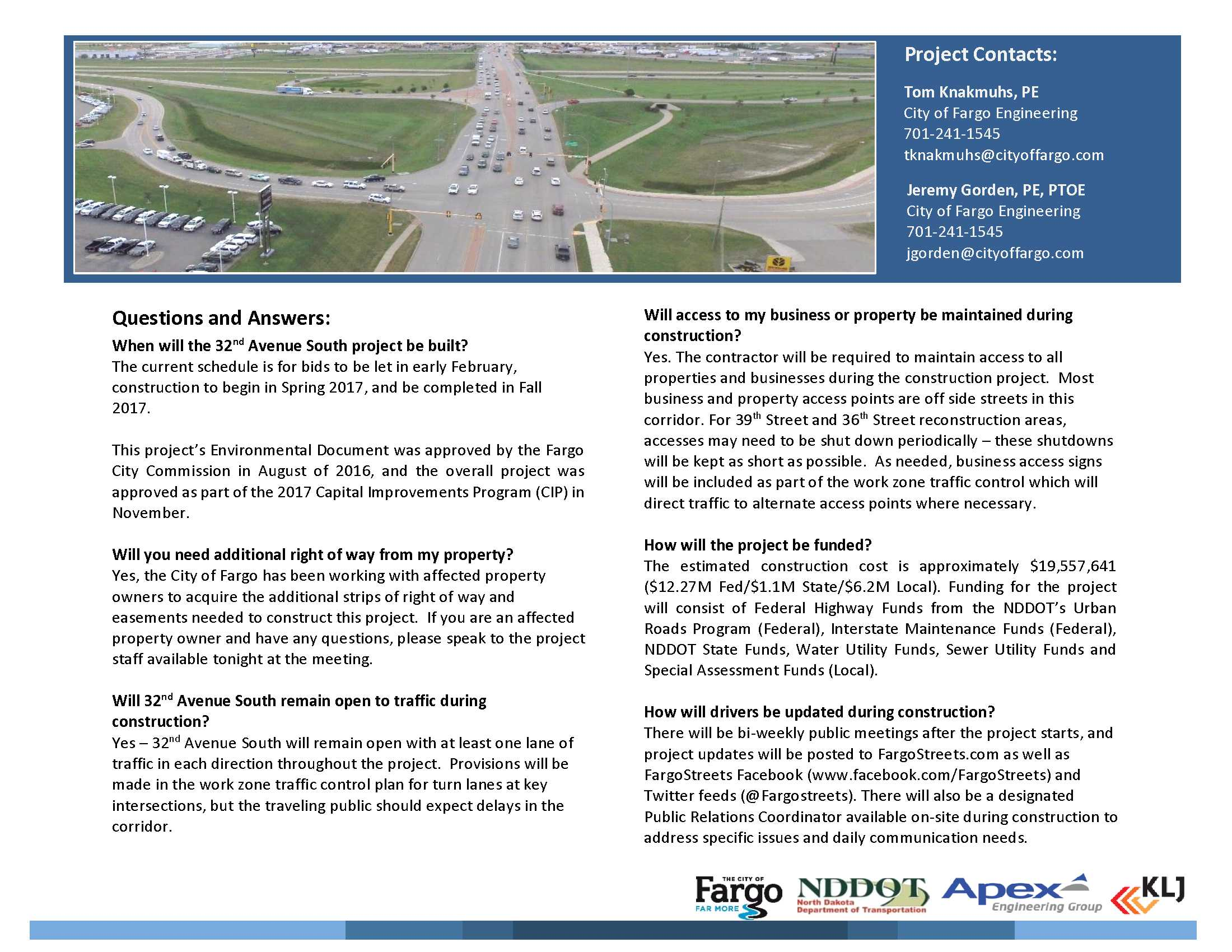 32nd Avenue South Reconstruction and I-29 overpass widening background and FAQ | Page 2
