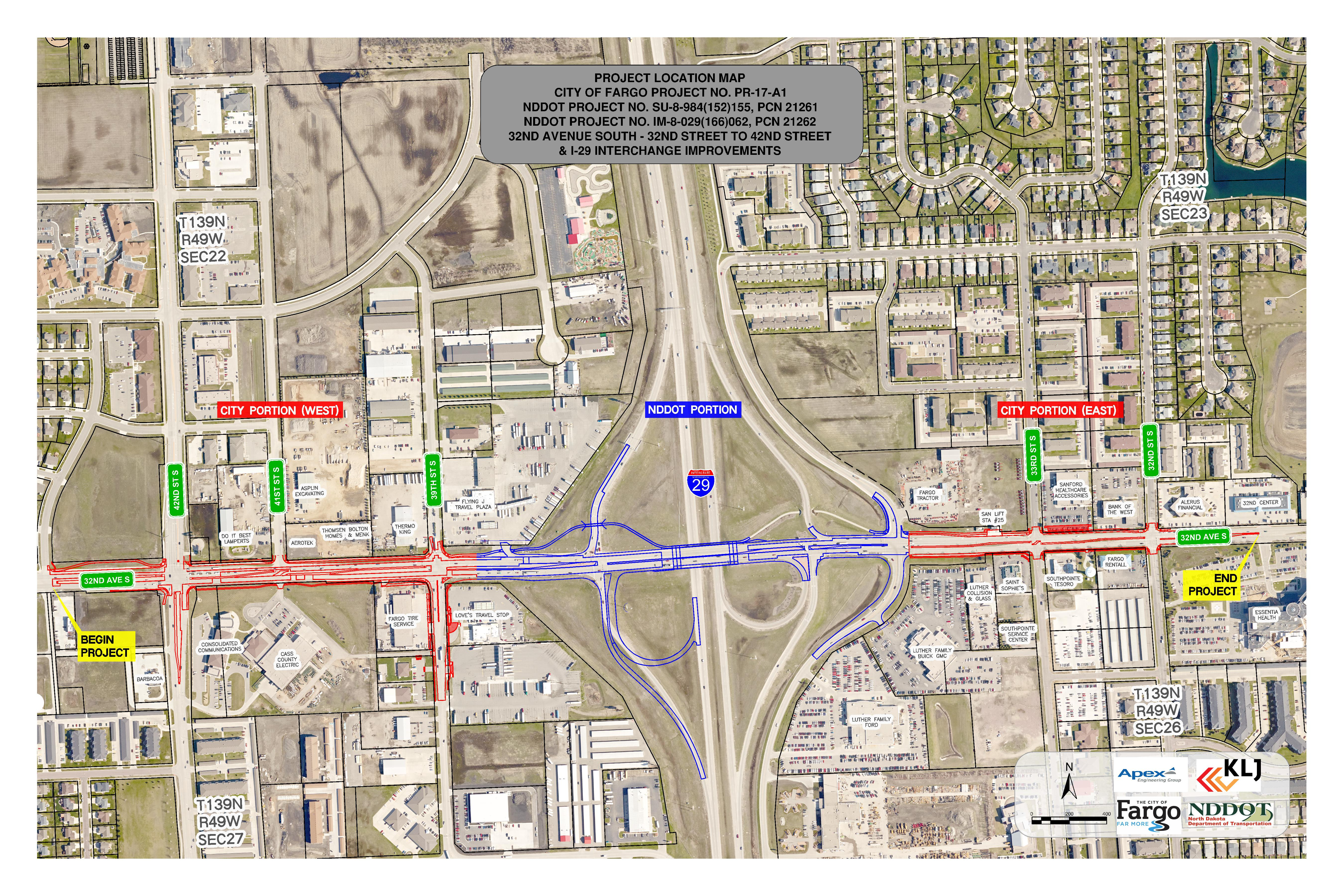 32nd Avenue South Reconstruction and I-29 Overpass Widening Design