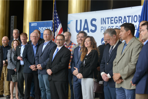 Announcement Of The Unmanned Aircraft Systems Integration Pilot Program At North Dakota State Capitol